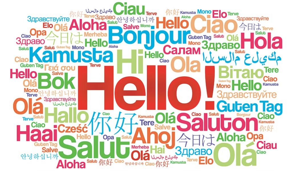 how to say 'Hello' and 'Hi' in many lots of languages.